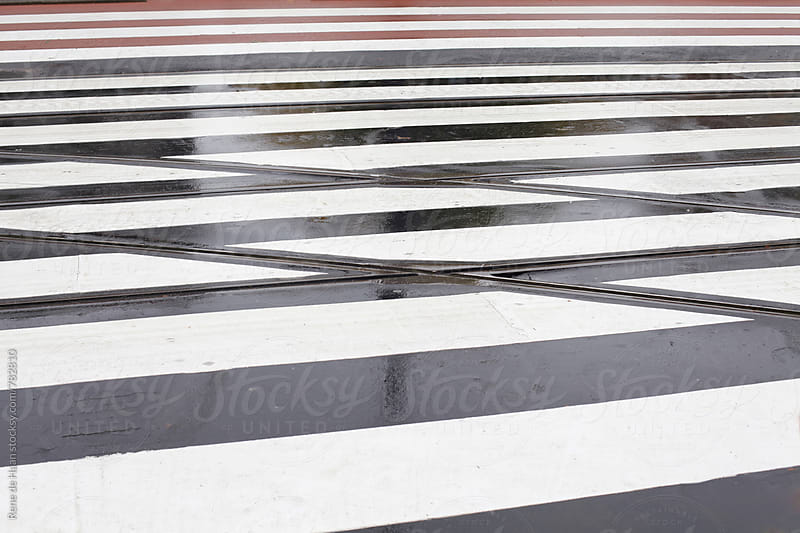 pedestrian crossing by Rene de Haan for Stocksy United