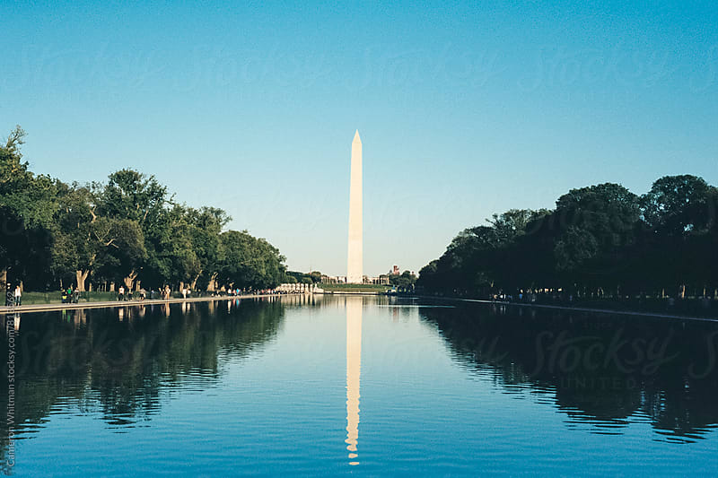 Washington Monument & Reflecting Pool in Washington DC by Cameron Whitman for Stocksy United