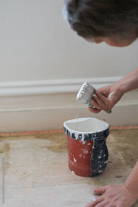DIY Painting project by Rowena Naylor for Stocksy United