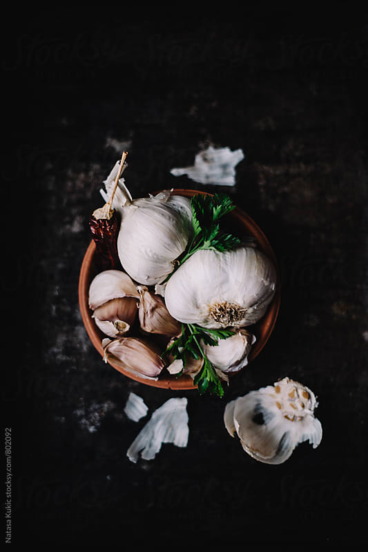 Garlic in many ways by Natasa Kukic for Stocksy United