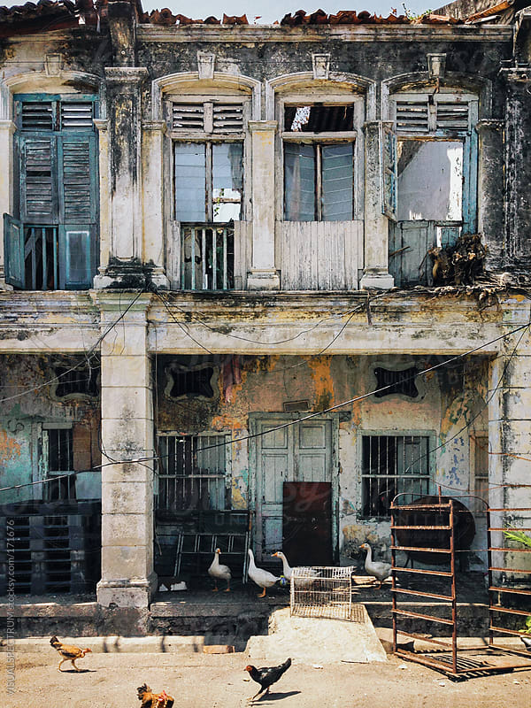 Decaying Colonial Building by VISUALSPECTRUM for Stocksy United