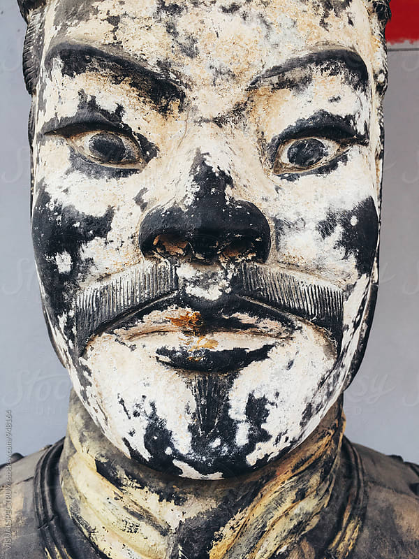 Close Up of Chinese Warrior Mask by Julien L. Balmer for Stocksy United