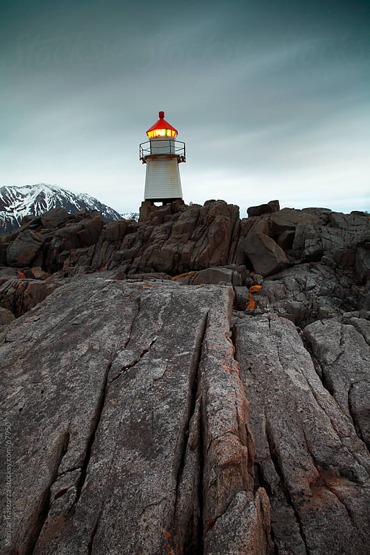 Laukvik Lighthouse by Marilar Irastorza for Stocksy United