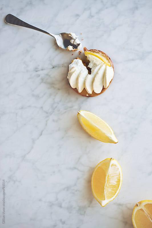 lemon meringue tart by Gillian Vann for Stocksy United