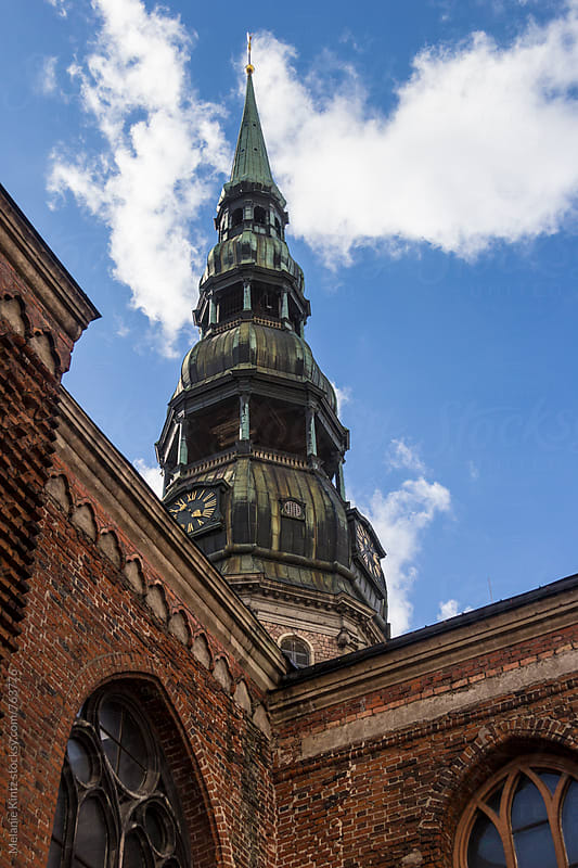 Spire of St. Peter's Church in Riga by Melanie Kintz for Stocksy United