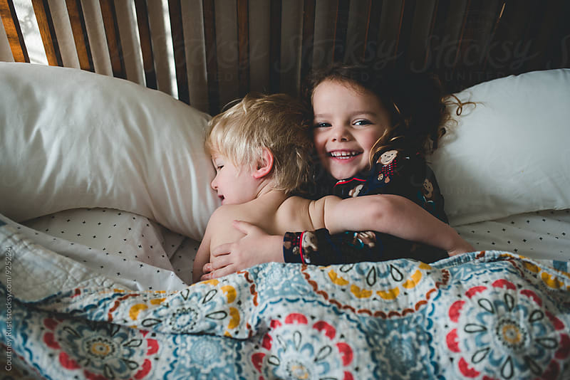 Sibling love by Courtney Rust for Stocksy United