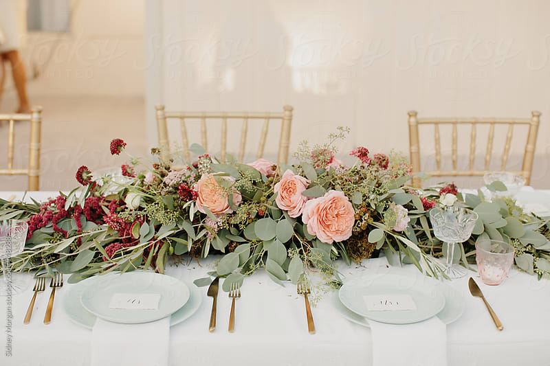 Wedding Floral Centerpiece by Sidney Morgan for Stocksy United
