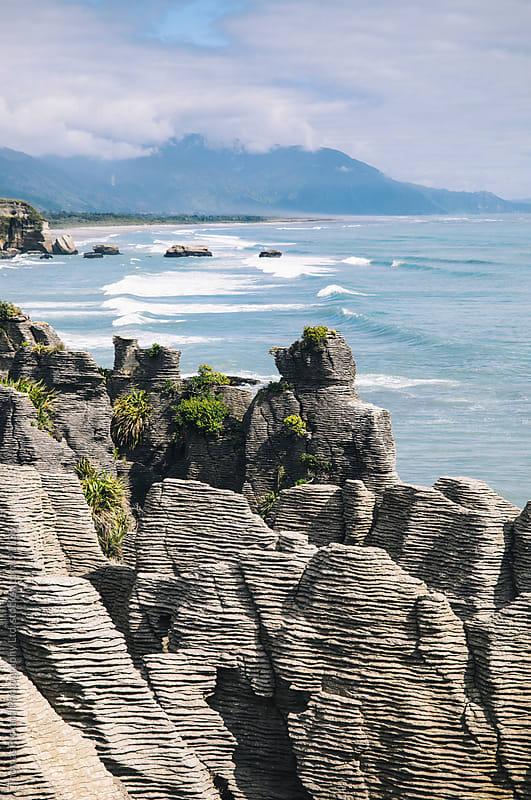 Pancake Rocks, Punakaiki, West Coast, New Zealand. by Thomas Pickard for Stocksy United