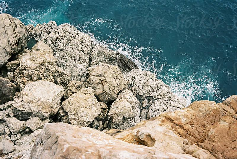 rocky coast line of big sur area west coast california by Jesse Morrow for Stocksy United