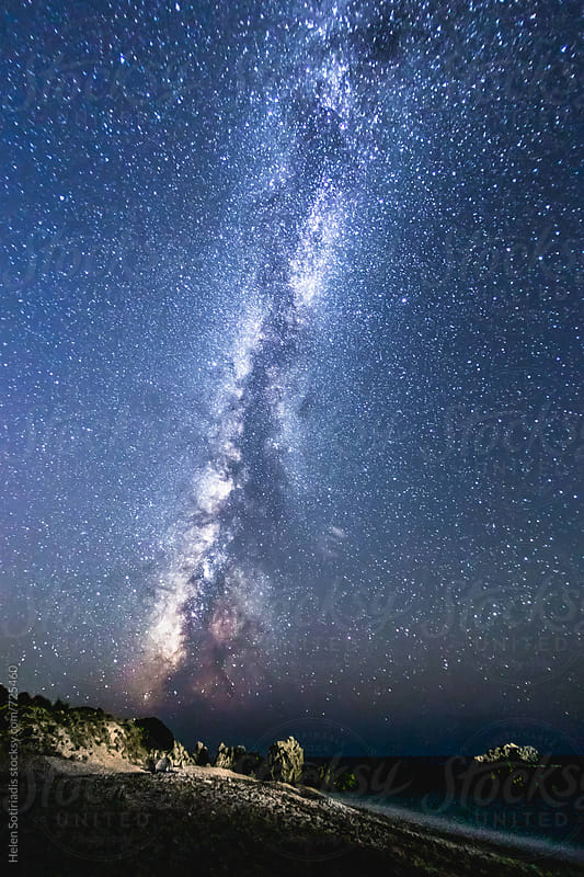 The Milky Way over a Seascape by Helen Sotiriadis for Stocksy United