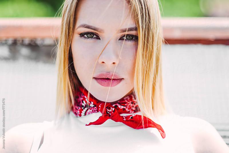 summer portrait by Jovana Vukotic for Stocksy United