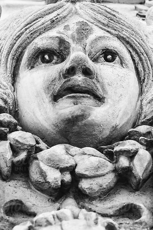 Head of a Woman Stone Sculpture by Lumina for Stocksy United