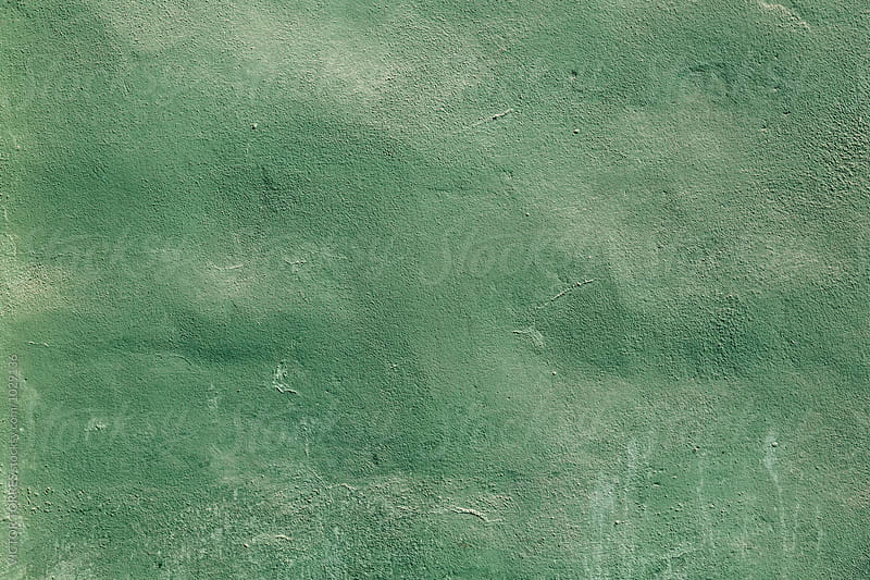 Texture of a Green Grunge Wall by Victor Torres for Stocksy United