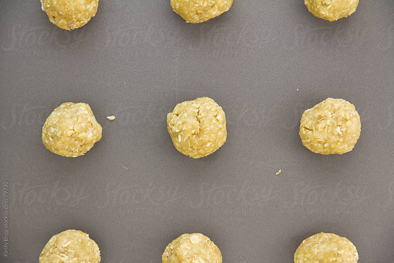 ANZAC biscuits cookie unbaked by Kirsty Begg for Stocksy United