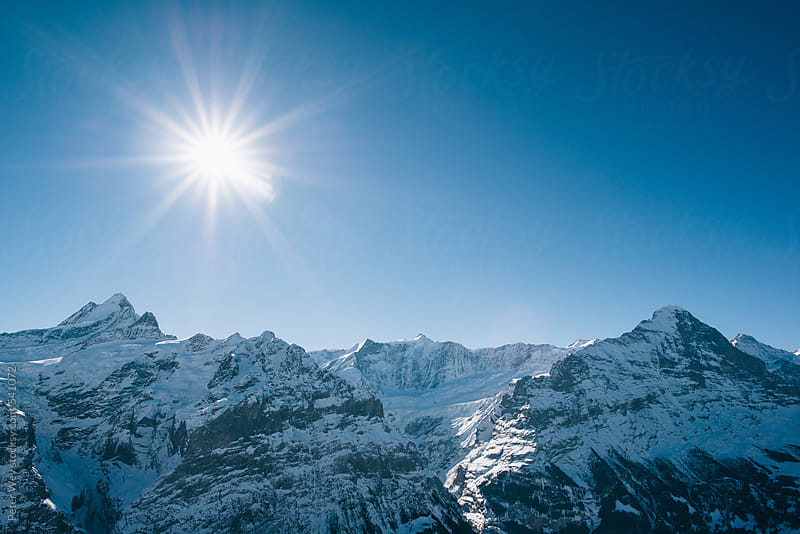 Schreckhorn and Eiger  by Peter Wey for Stocksy United