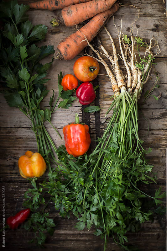 Fall vegetables by Babett Lupaneszku for Stocksy United