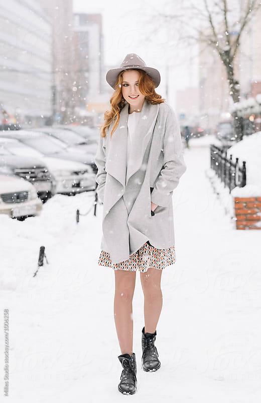 Girl in Winter by Milles Studio for Stocksy United
