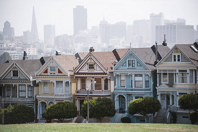 Painted Ladies in Alamo Square - San Francisco by Simone Becchetti for Stocksy United