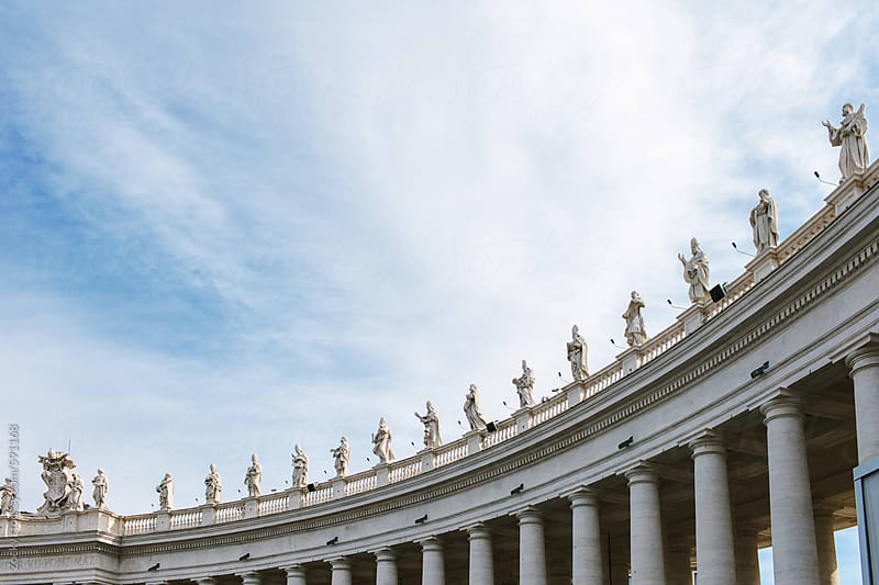 Statues in St. Peter's Square, Vatican by Zocky for Stocksy United