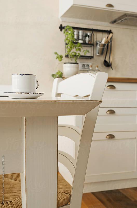 Detail of modern kitchen by Borislav Zhuykov for Stocksy United