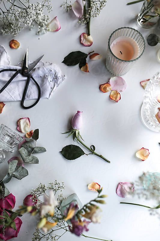 Styling & Arranging Flowers by Hung Quach for Stocksy United