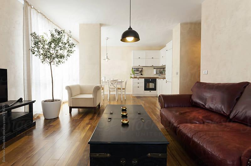 Modern interior with vintage furnishing  by Borislav Zhuykov for Stocksy United