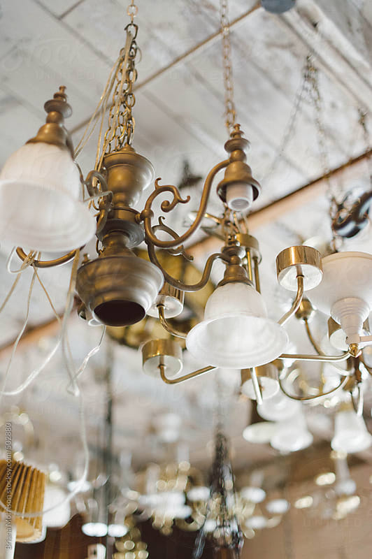 A Number of Vintage Chandeliers by Briana Morrison for Stocksy United