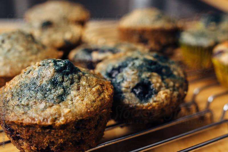 Blueberry muffin closeup by Gabriel (Gabi) Bucataru for Stocksy United