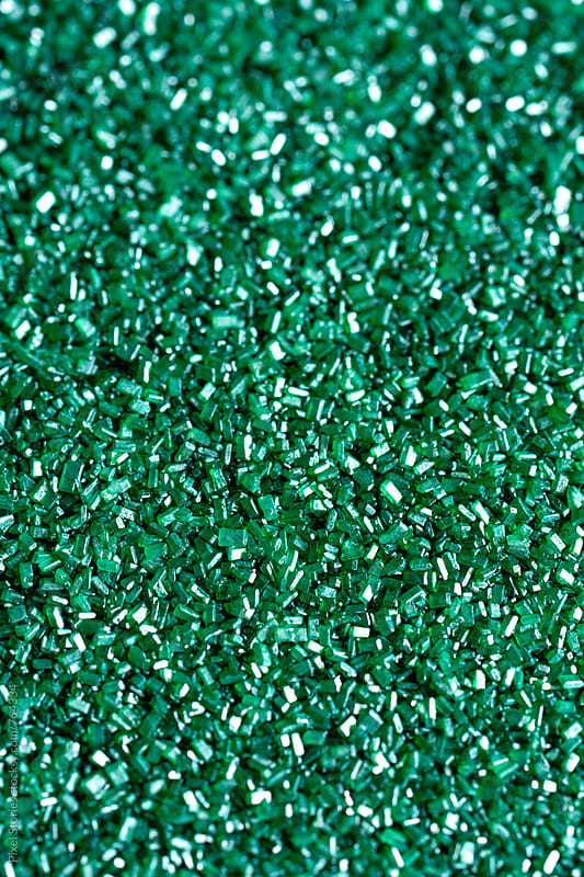 Emerald sanding sugar by Pixel Stories for Stocksy United