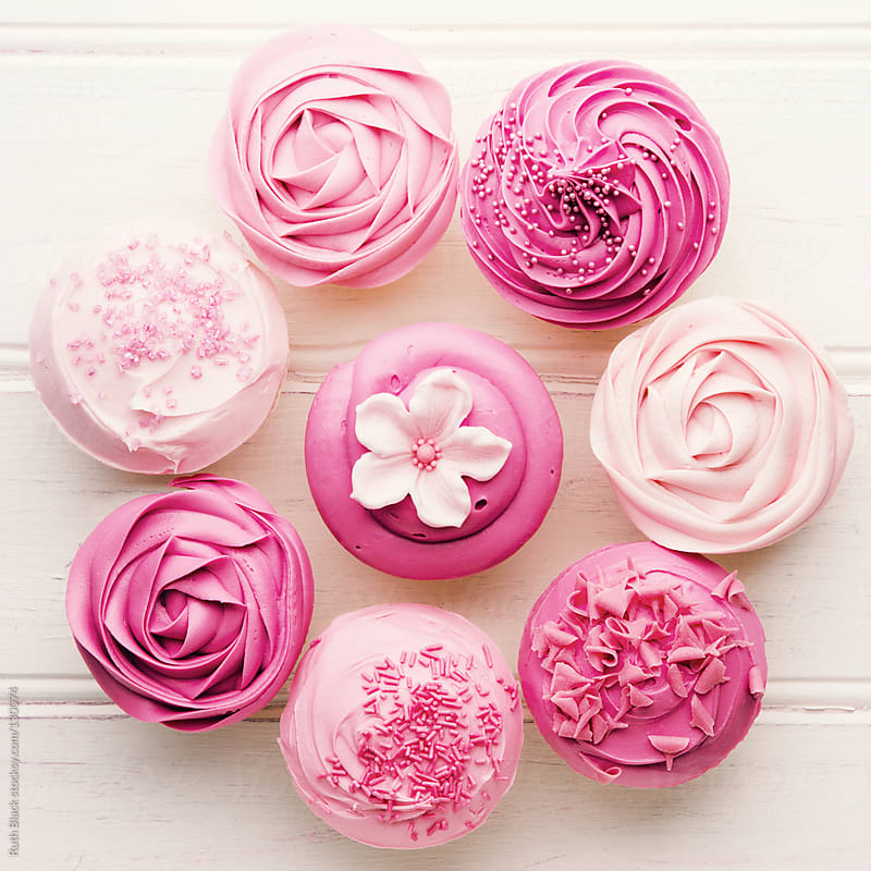 Pink cupcakes by Ruth Black for Stocksy United