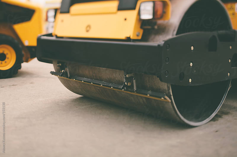 Road roller by Alexey Kuzma for Stocksy United
