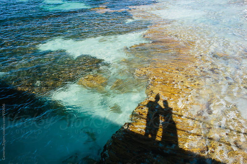 shadows in shallow tropical water by Cameron Zegers for Stocksy United