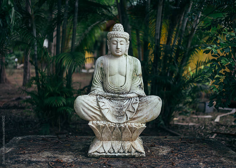 Buddha statue in the garden, Thailand by Studio Firma for Stocksy United