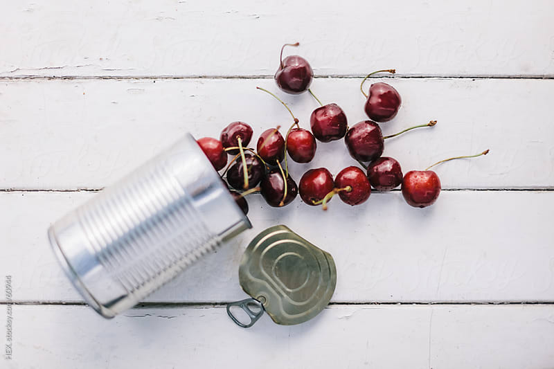 Food Can with Red Cherry by HEX. for Stocksy United