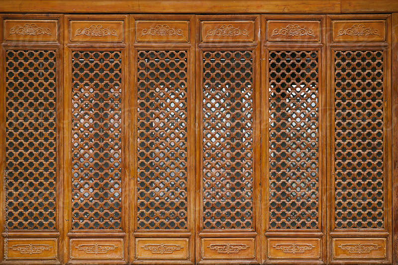 Door of traditional Chinese architecture by Maa Hoo for Stocksy United