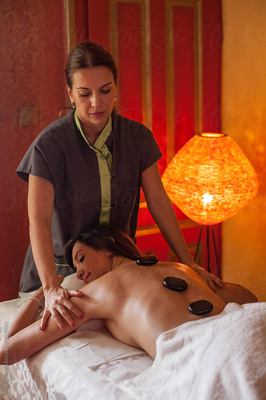 Hot Stone Massage Treatment by Mosuno for Stocksy United