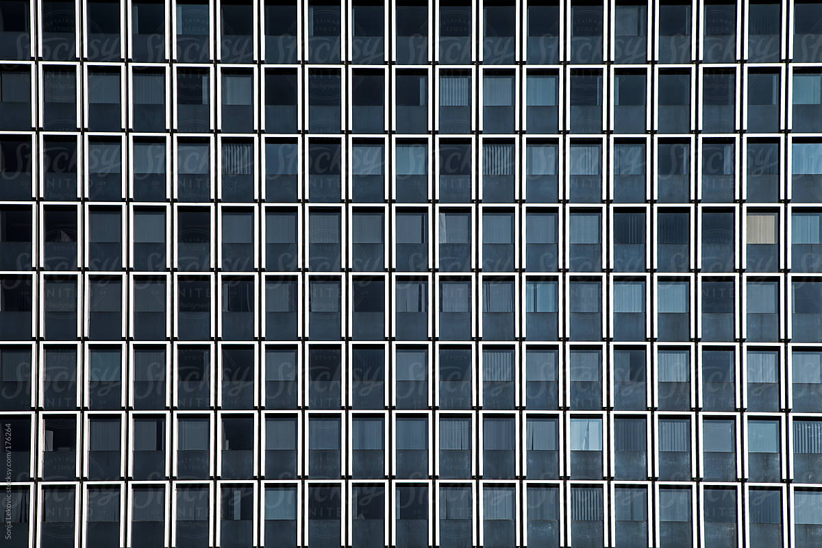 Office Building Glass Windows Background | Stocksy United