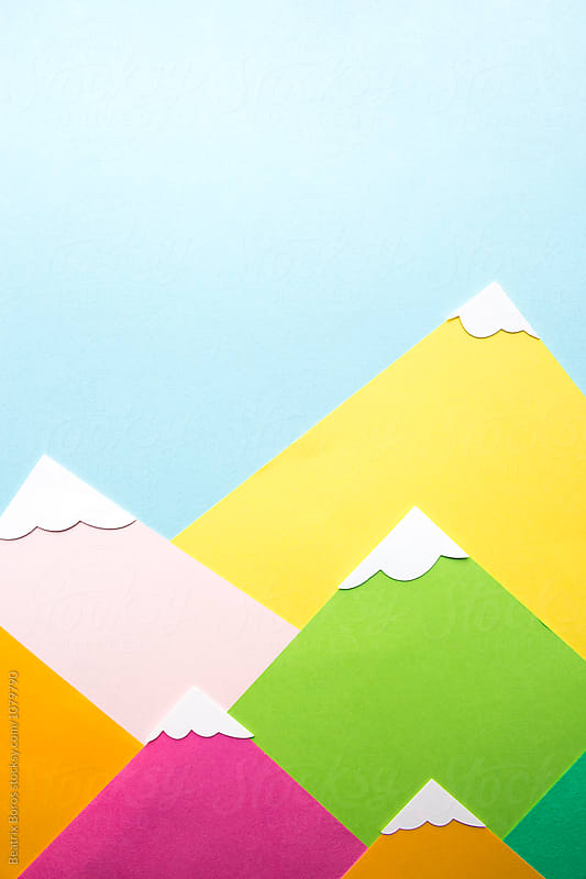 Colorful mountain details covered with snow by Beatrix Boros for Stocksy United