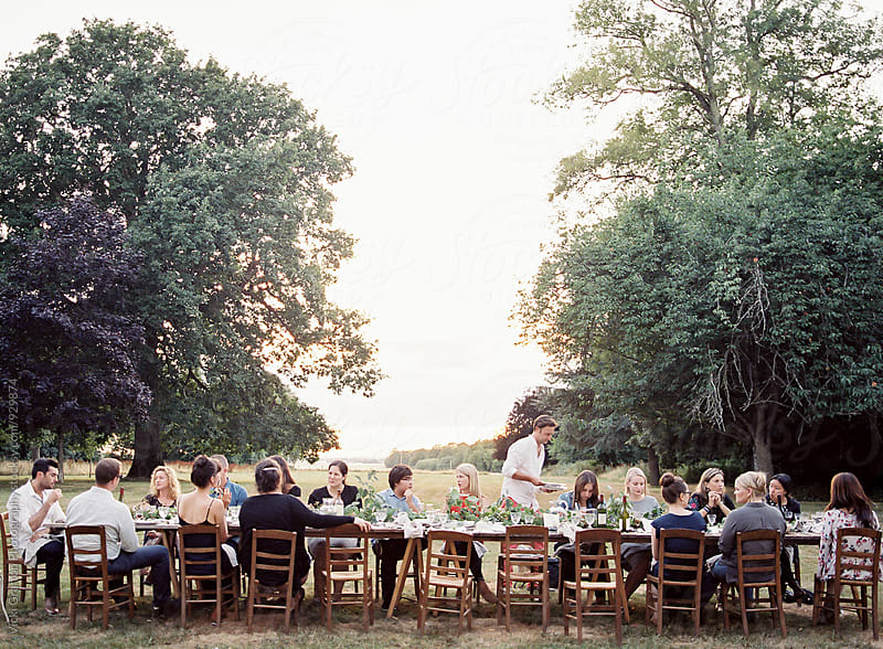 Alfresco Dinner Gathering in France  by Vicki Grafton Photography for Stocksy United