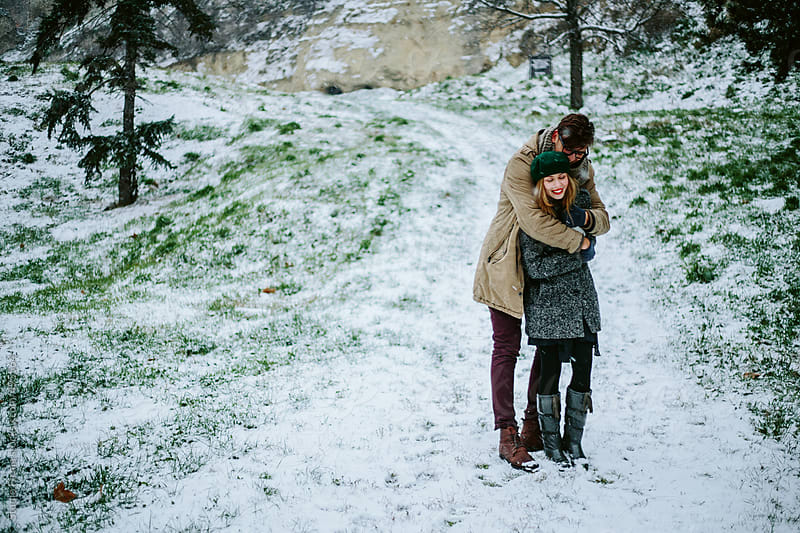 Love winter couple. by Studio Firma for Stocksy United
