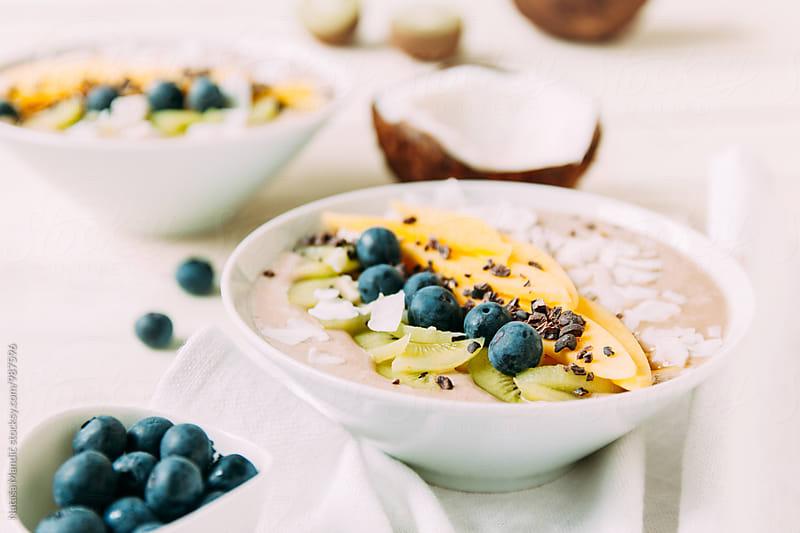 Tropical breakfast bowl by Nataša Mandić for Stocksy United