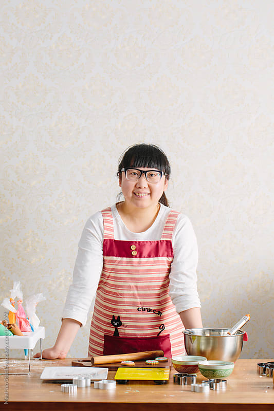 Portrait of young Chinese baker by MaaHoo Studio for Stocksy United