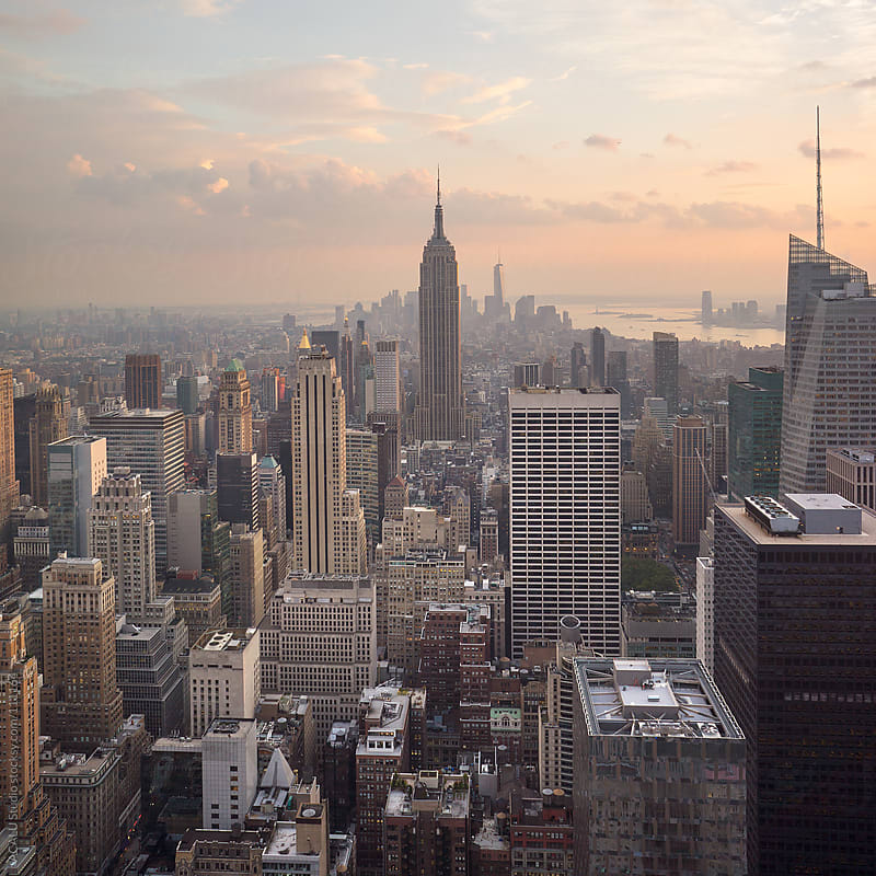 Empire State Building at dusk by ACALU Studio for Stocksy United