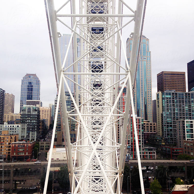 Ferris Wheel in Seattle by B. Harvey for Stocksy United