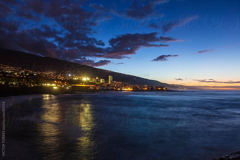Puerto de la Cruz by Night by VICTOR TORRES for Stocksy United