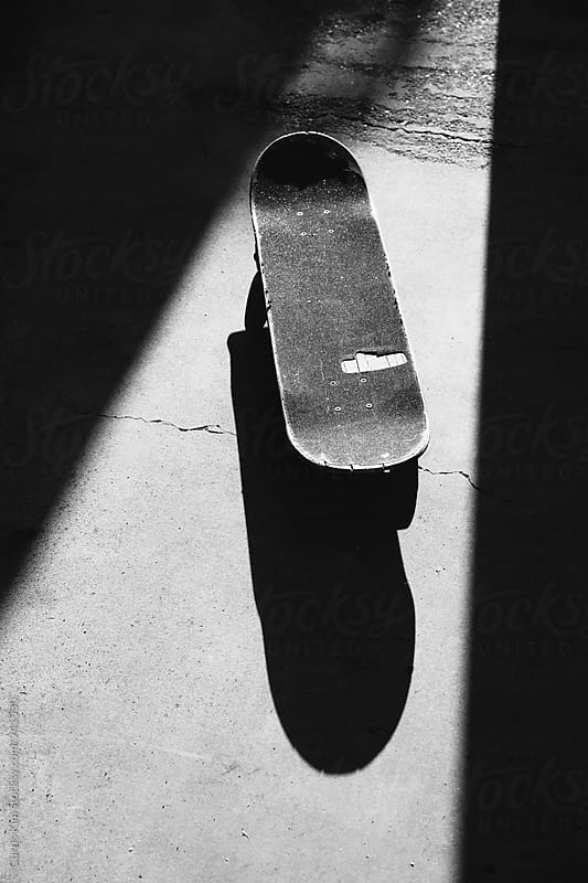 Black and white skateboard by Curtis Kim for Stocksy United