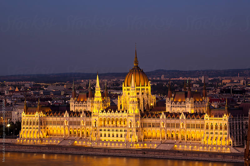 Budapest, Hungary, Skyline. by Mental Art + Design for Stocksy United