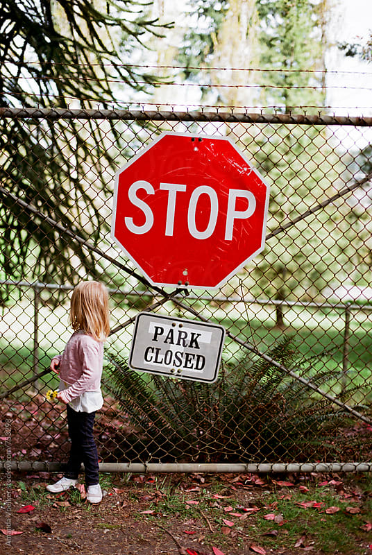 Stop, the Park is Closed by Amanda Voelker for Stocksy United