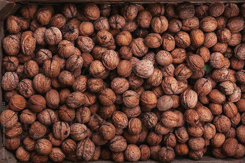 Walnuts in shell by Borislav Zhuykov for Stocksy United