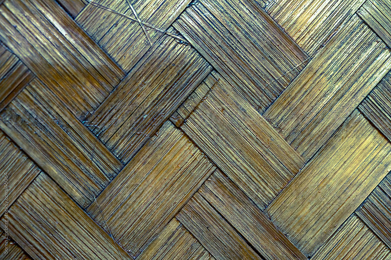 Textured pattern background of old bamboo wall on tropical bungalow in close-up by Soren Egeberg for Stocksy United